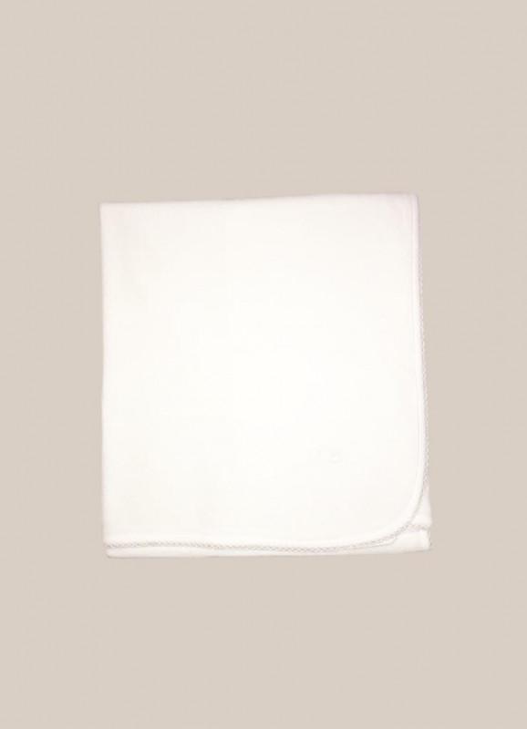 Manta basica plush blanco