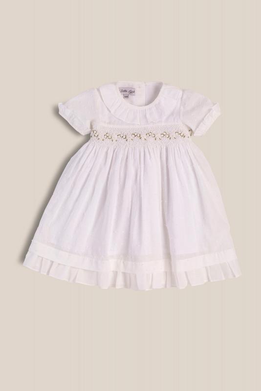 Vestido smock blanco
