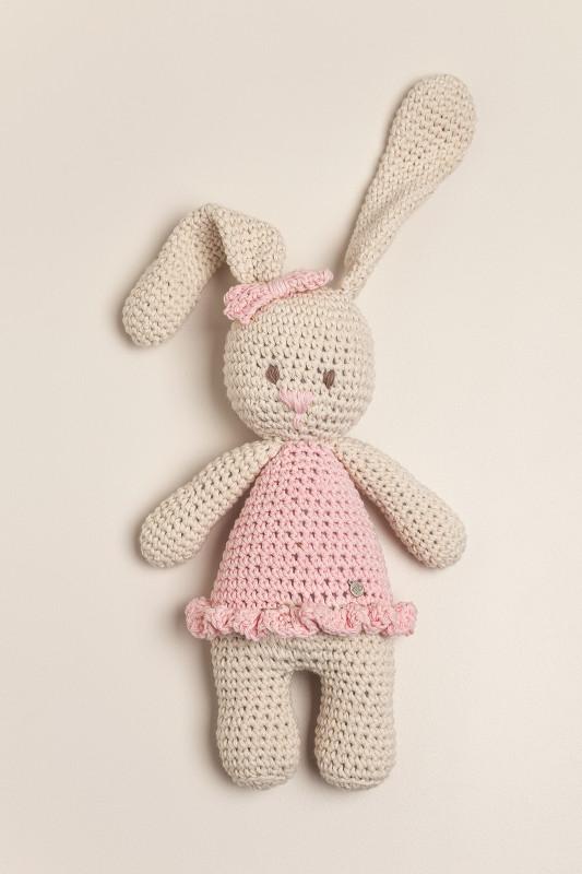 Muñeco tejido coneja