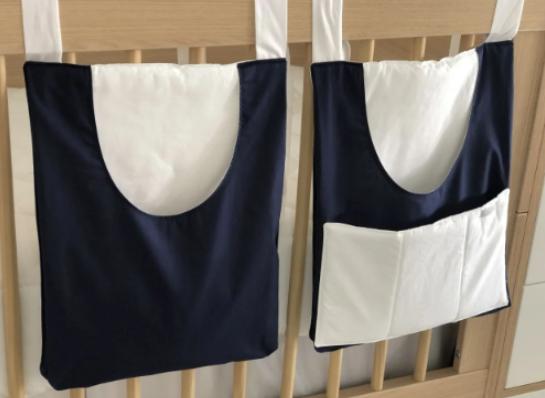 Duo porta pañales azul marino