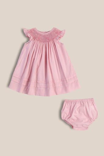 Vestido Josefina rosa smock