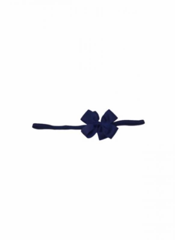 Vincha goma moño pequeño azul