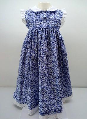 Vestido Luna smock cuello bb