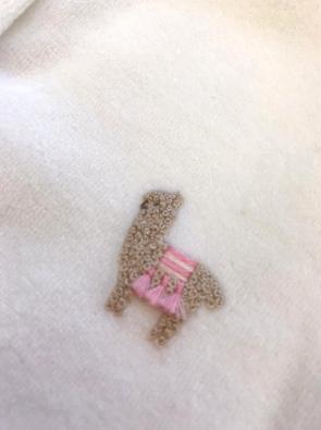 Enterito de plush llamita rosa