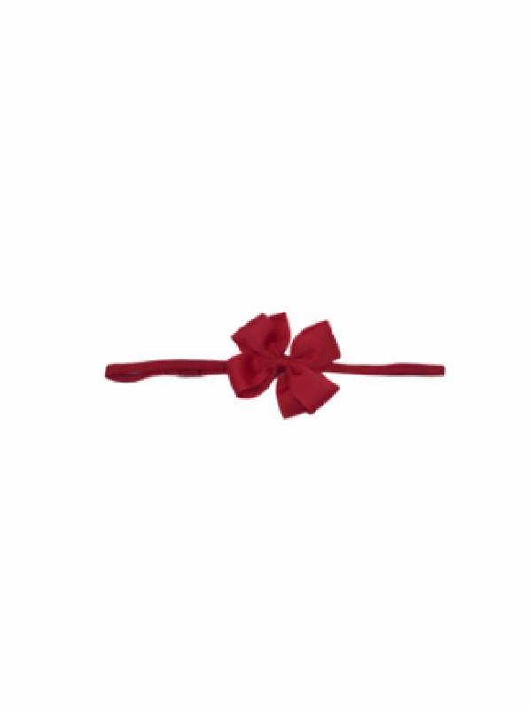 Vincha goma moño pequeño rojo