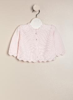 Saco santa clara con botones rosa