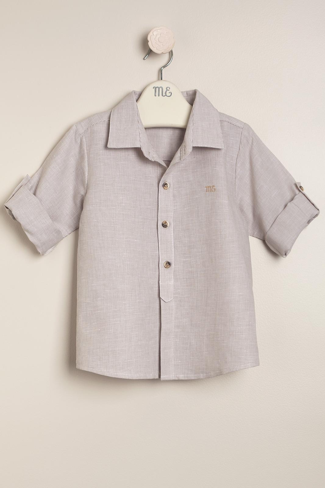 Camisa rayada beige Valentino