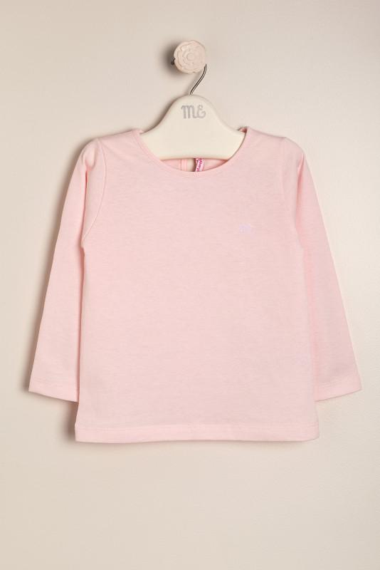 Remera con logo rosa