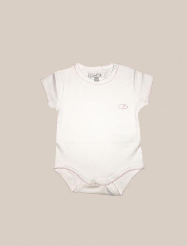 Body mc basico blanco/rosa