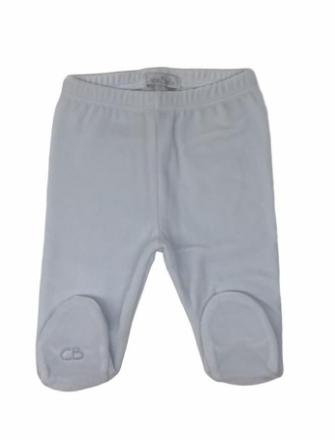 Pantalon basico con pie plush celeste
