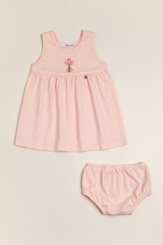Vestido bord Sophie rosa