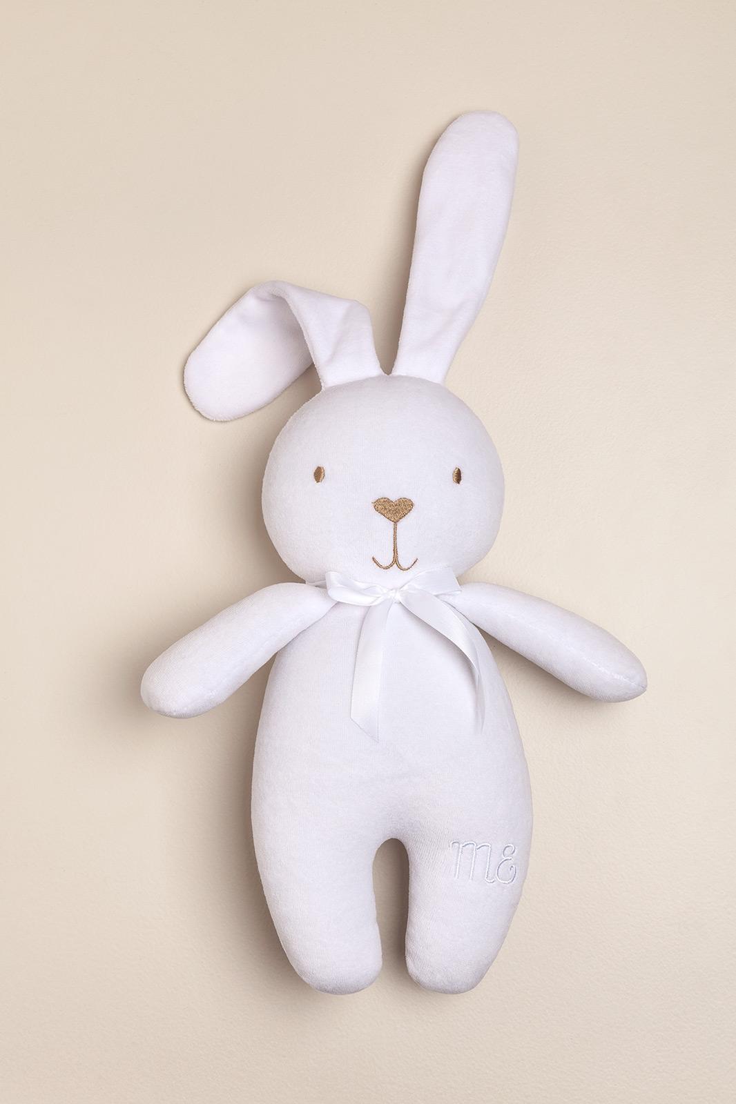 Conejo de peluche grande blanco