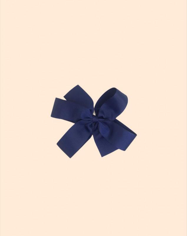 Moño mediano fino azul