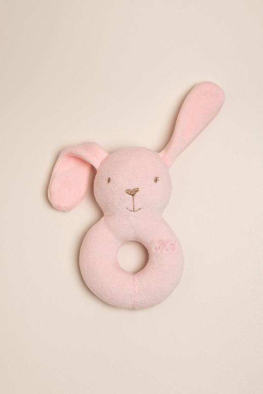 Sonajero conejo rosa