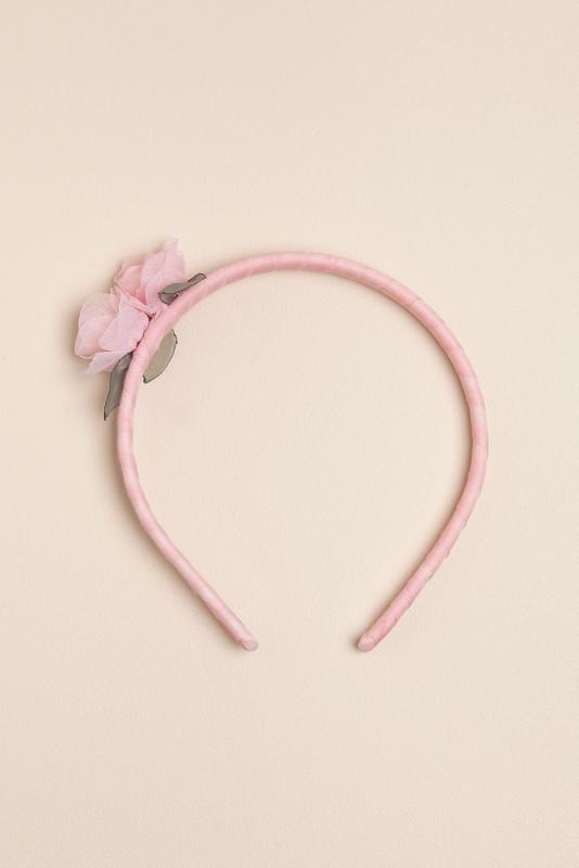 Vincha bb con dos flores rosa