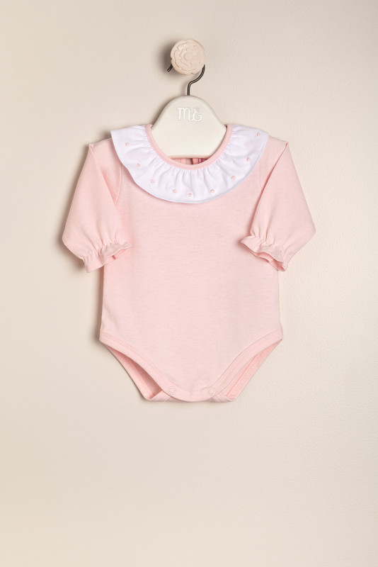 Body cuello motitas rosa