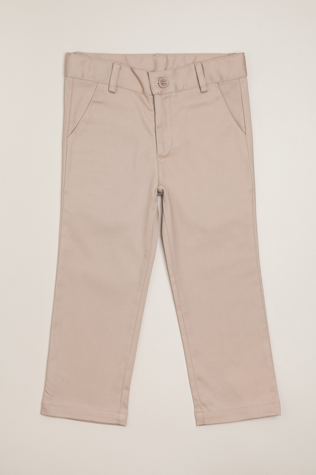 Pantalon de gabardina beige