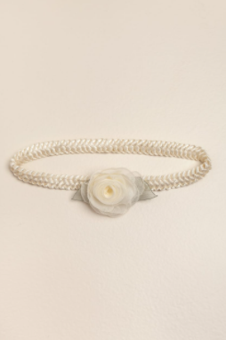 Vincha elastizada con 1 flor crudo