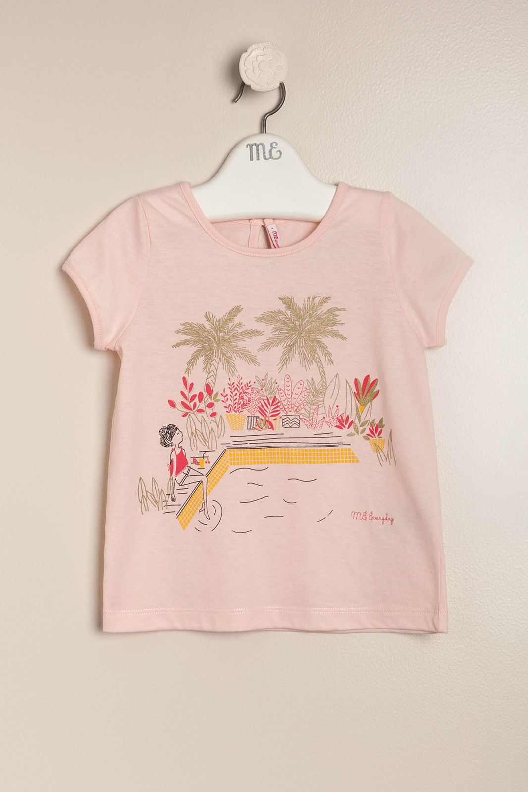 Remera swimming rosa