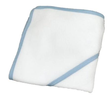 Toalla de baño clasica azul celeste