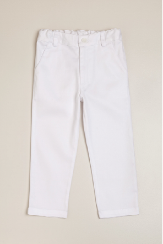 Pantalon clasico blanco
