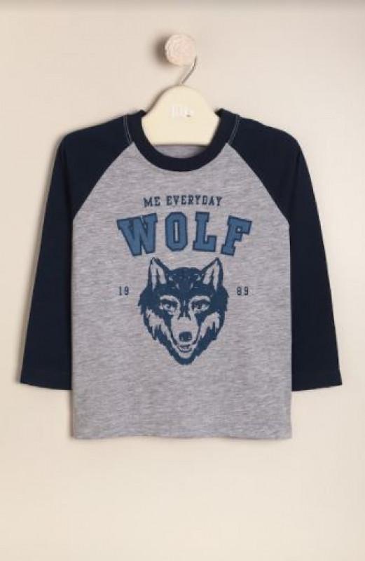 Remera ranglan Wolf gris