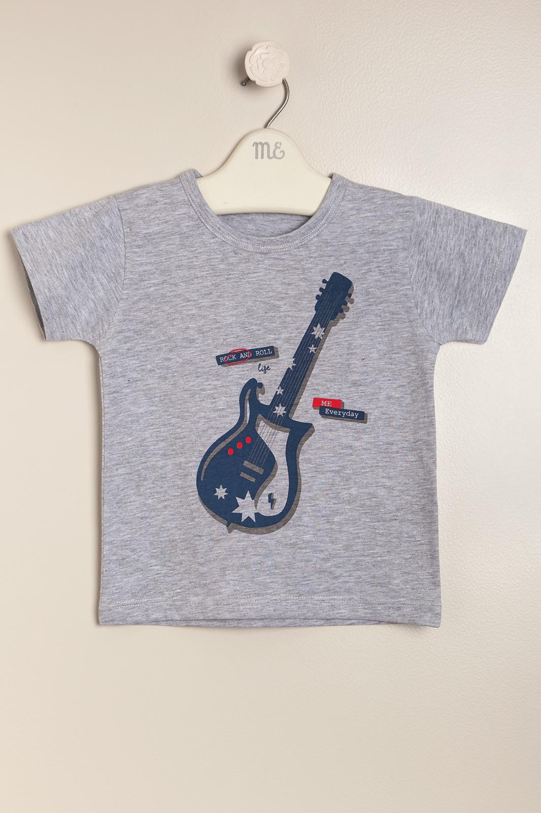 Remera guitarre gris