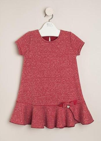 Vestido de friza rojo