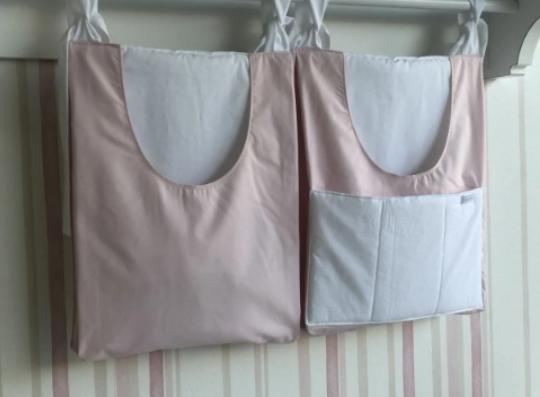 Duo porta pañales rosa